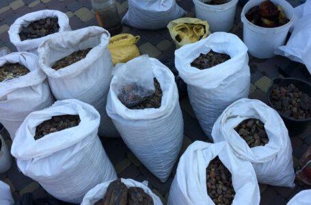 У чорних копачів Рівненської області вилучили бурштин на 30 млн гривень
