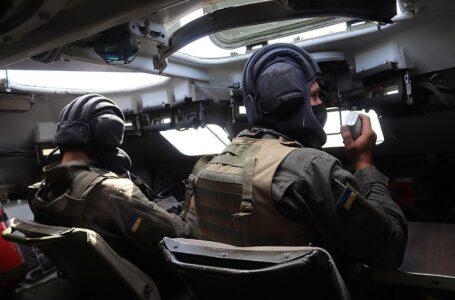 Миколаївські нацгвардійці провели навчання на «Широкому лані» – тренували дії на БТР