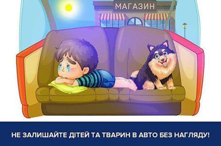 Миколаївські патрульні нагадали, що в спеку не можна залишати дітей і тварин в автомобілі