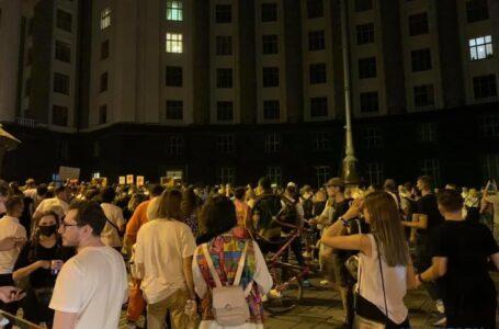 Акція протесту під Кабміном: молодь вимагає відкрити нічні клуби