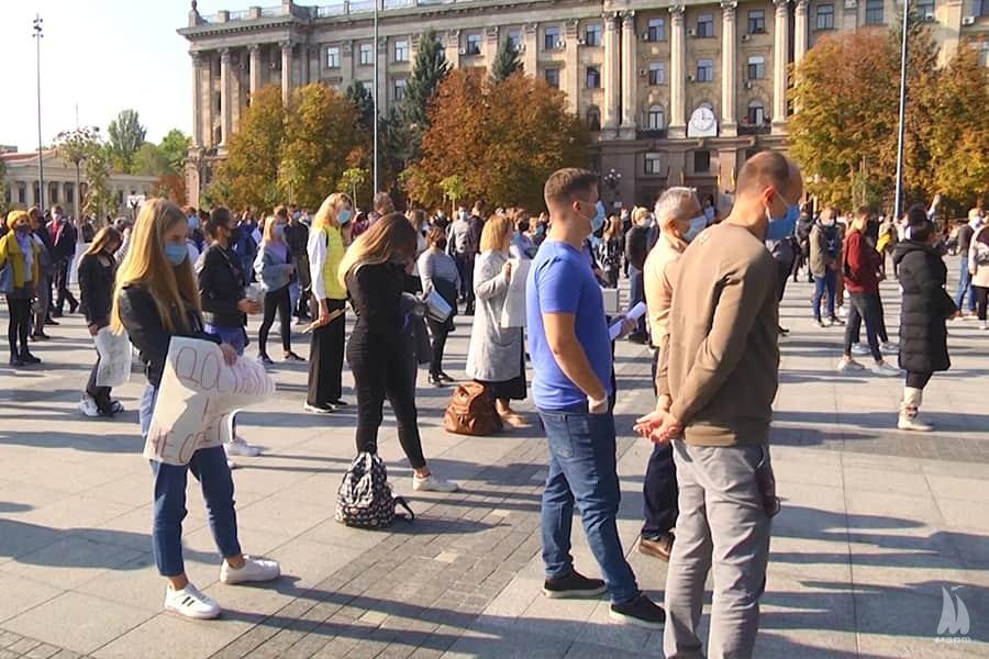 У Миколаєві відбувся культурний мітинг за пом'якшення карантинних норм