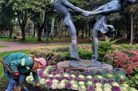 Комунальники вирішили прикрасити Київ капустою