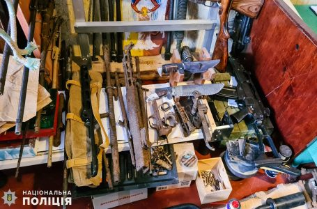 У Миколаєві у практикуючого психолога поліцейські вилучили арсенал зброї, вибухівки та боєприпасів